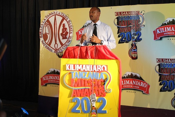 Kilimanjaro Brand Manager George Kavishe giving the opening remarks