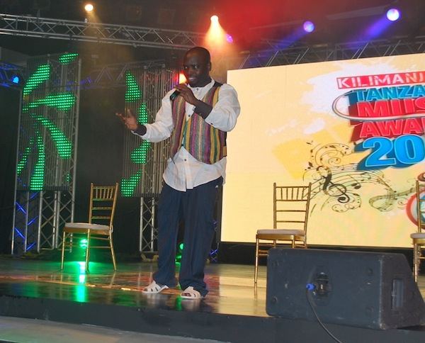 Co-Host for the night Mpoki keeping the crowd entertained