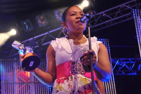 Twanga's singer Luiza Mbutu