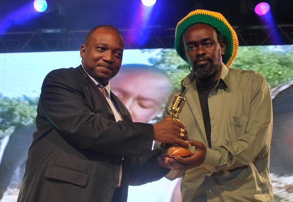 Hall of Fame Award to an Individual - the late Dr. Remmy Mtoro Ongala received by Ras Inno