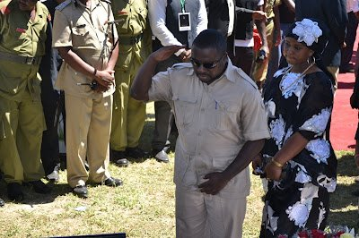 Mbeya's member of parliament Joseph Mbilinyi paying his last respects