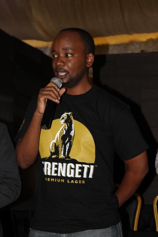 Allan Chonjo Brand Manager wa Serengeti ambao ndo wa zamini wakuu wa Fiesta
