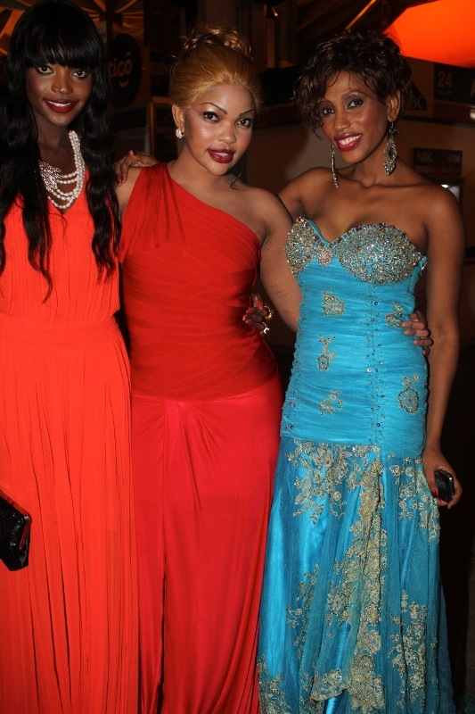Miriam Odemba, Wema Sepetu and Mange Kimambi at JNIA Airport