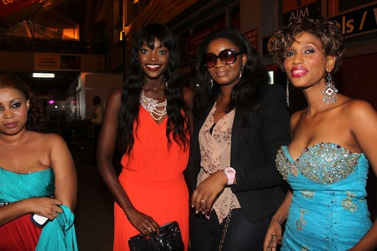 Omotola, with former beauty queens Miriam Odemba and Mange Kimambi
