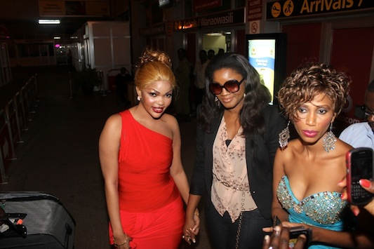 Wema, Omotola and Mange