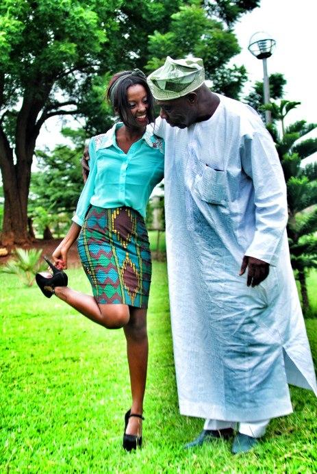 Akiwa na rais wa zamani wa Nigeria, Obasanjo
