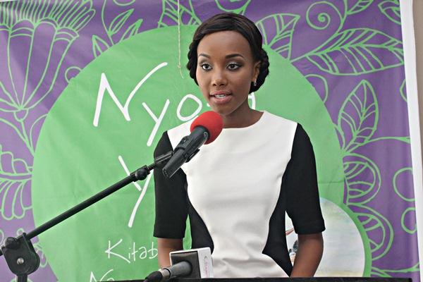 Nancy Sumari akizungumza kwenye uzinduzi huo