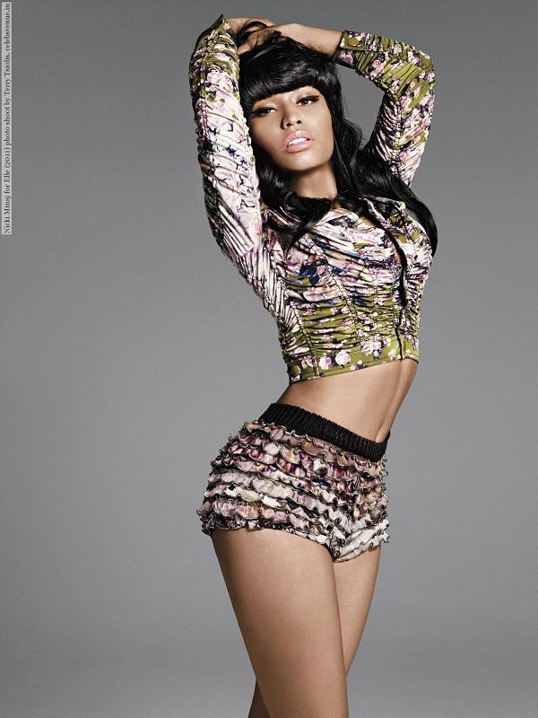 Nicki Minaj for Elle (2011) photo shoot by Terry Tsiolis