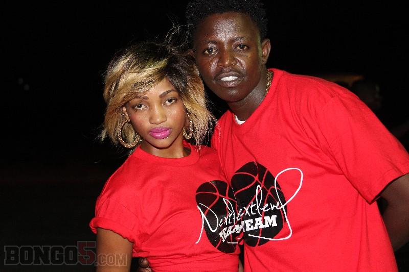 Agnes Masogange akiwa na Linex