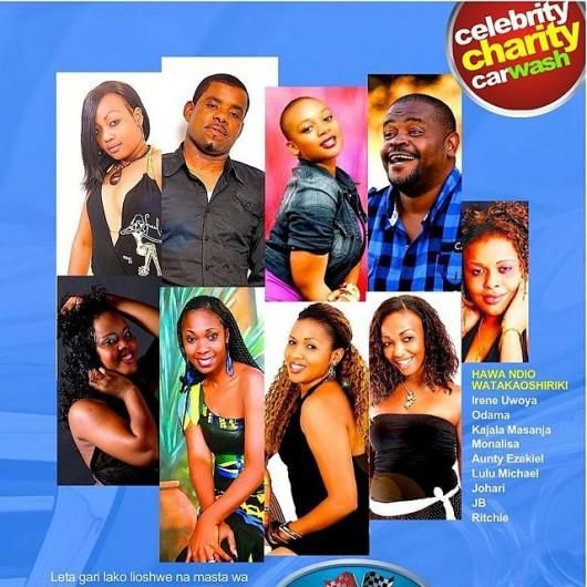 Wasanii wa filamu kushiriki kwenye 'celebrity charity car wash' leo