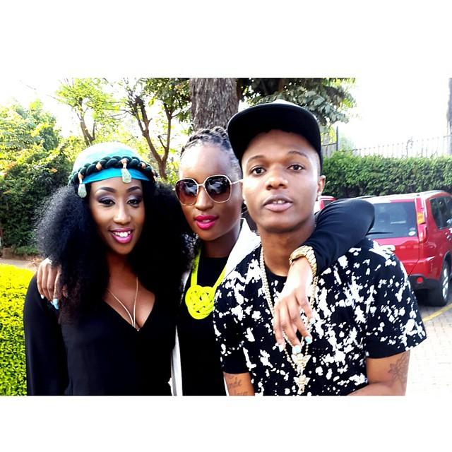 Wizkid na Victoria Kimani washoot video Kenya na Enos Olik