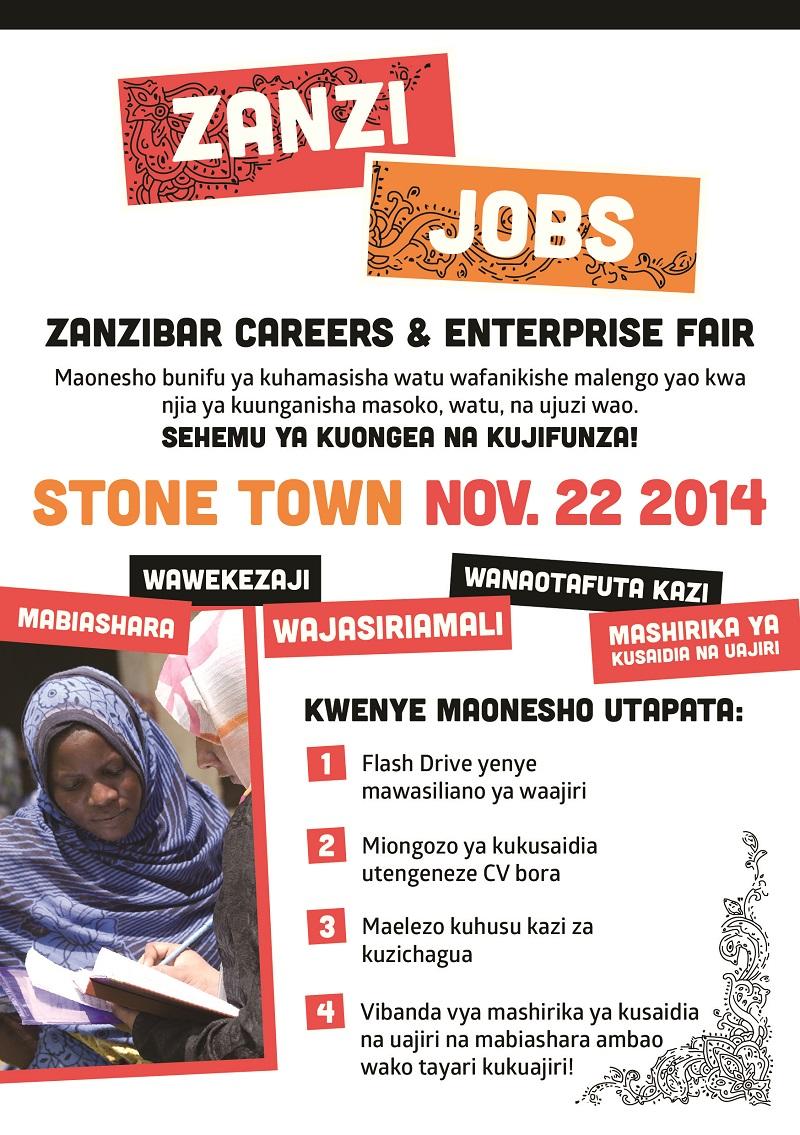 Zanzibar Career Fair Event (Nov 22), vijana kufundishwa kutengeneza CV, kujiandaa na usaili wa kazi