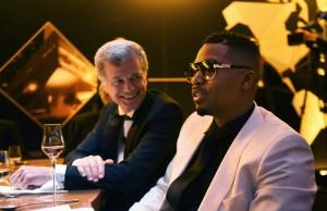 Nas and CEO wa Hennessy Bernard Peillon kwenye Gala dinner New York kabla ya kuja Johannesburg