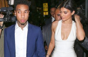 West Hollywood, CA - Kylie Jenner is back with her boyfriend, Tyga, after a short break-up during his birthday. They were seen arriving together at The Nice Guy for Justin Bieber's party where Kylie leaned on Tyga's shoulder to get out of their limo bus.  MANDATORY CREDIT: Maciel/Roger/AKM-GSI    AKM-GSI November 22, 2015    To License These Photos, Please Contact :    Steve Ginsburg  (310) 505-8447  (323) 423-9397  steve@akmgsi.com  sales@akmgsi.com    or    Maria Buda  (917) 242-1505  mbuda@akmgsi.com  ginsburgspalyinc@gmail.com