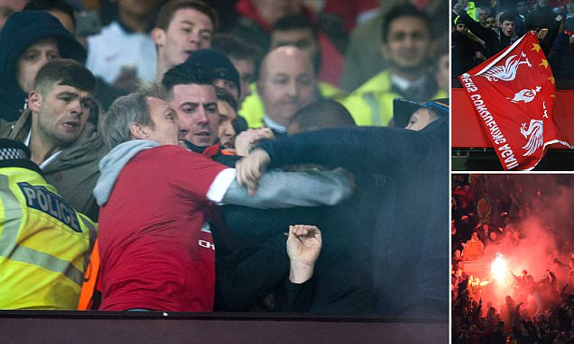 Mar 17th 2016 - Manchester, UK - MAN UTD V LIVERPOOL - Man Utd trouble PIcture by Ian Hodgson/Daily Mail